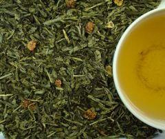 Entcoff. SENCHA ERDBEER Grüner Tee