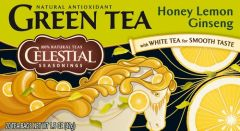 GREEN TEA with White Tea  - HONEY LEMON GINSENG 20er